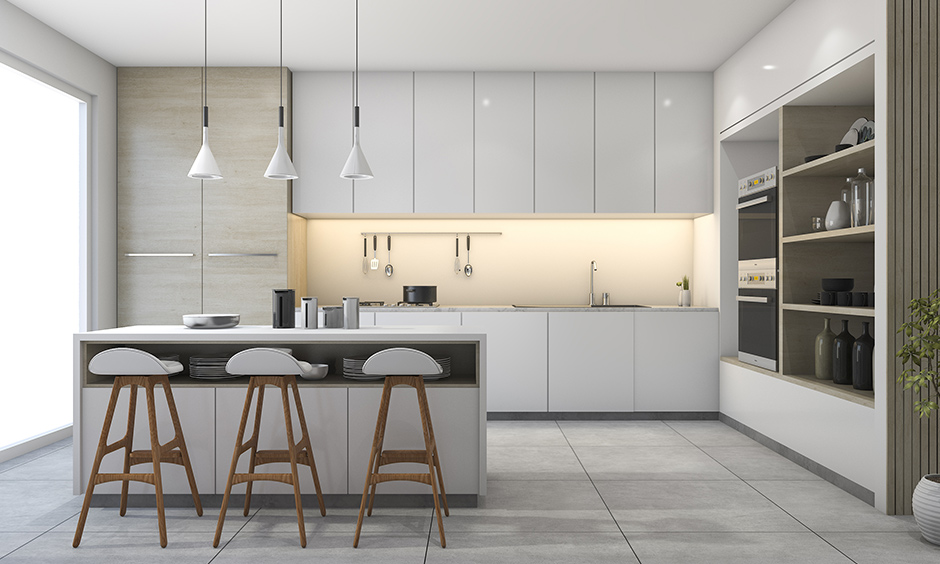 Grey and white kitchen ideas white can play the protagonist, and grey can be used to accentuate space.