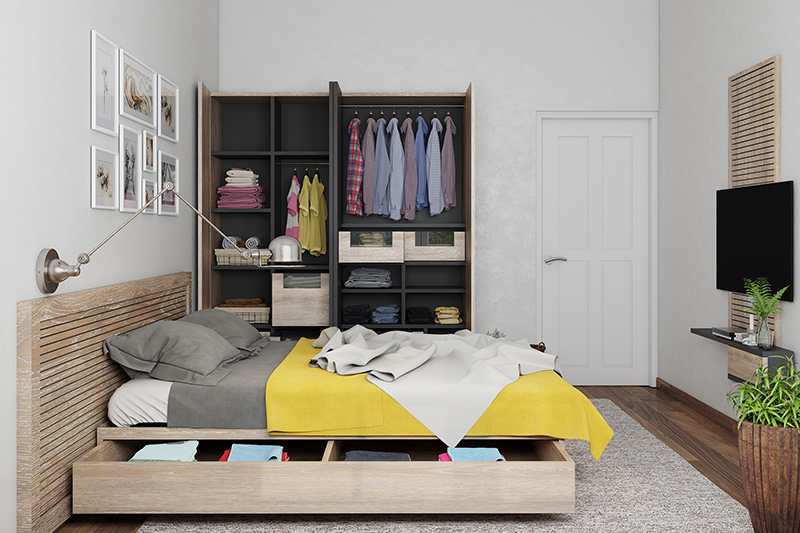 Home trends changed bedroom with more functional and furniture more streamlined.