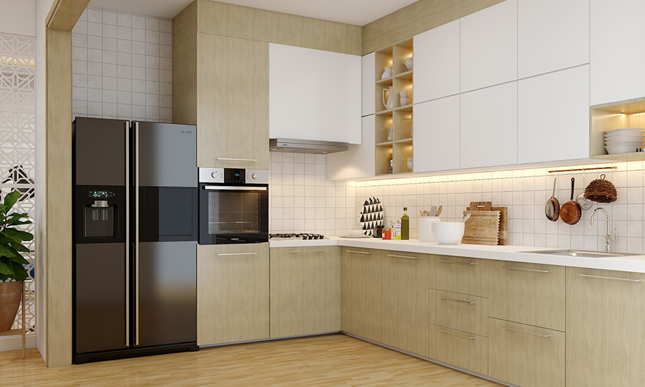 Modular kitchen chimney types, corner chimney, will help you utilise often-overlooked kitchen corners effectively.