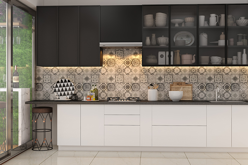 Modern black and white kitchen cabinets for your home