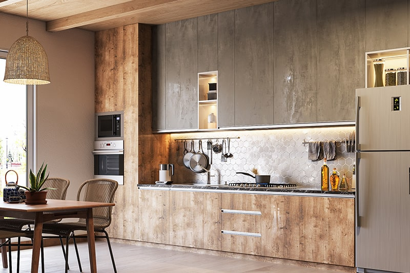 Modern rustic style kitchen design who like rustic with an edge of modern functionality