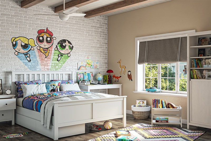 A themed kids bedroom were famous in the 90s design trends