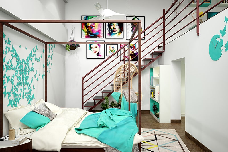 Unique modern wooden bed designs with a canopy design for your bedroom